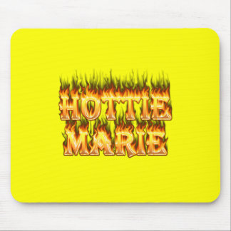 Hottie Marie fire and flames Mouse Pad