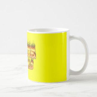 Hottie Mark fire and flames. Coffee Mug