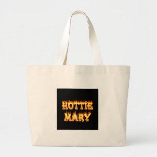 Hottie Mary fire and flames. Canvas Bag