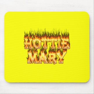 Hottie Mary fire and flames Mouse Pad