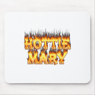 Hottie Mary fire and flames. Mouse Pad
