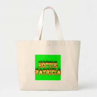 Hottie Patricia fire and flames Canvas Bags