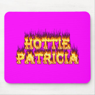 Hottie Patricia fire and flames Mouse Pad