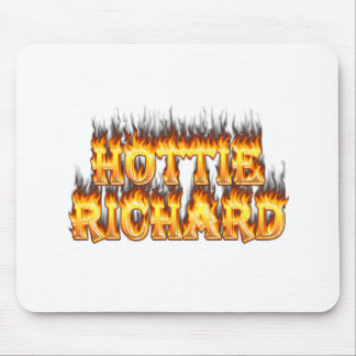 Hottie Richard fire and flames Mouse Pad