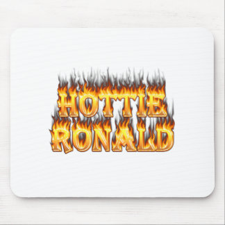 Hottie Ronald fire and flames Mouse Pad