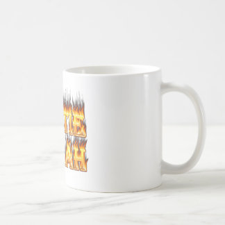 Hottie Sarah fire and flames Coffee Mug