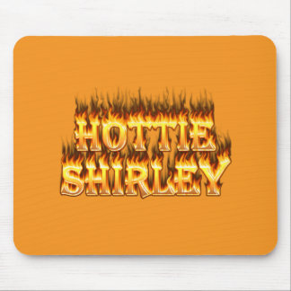 Hottie Shirley fire and flames. Mouse Pads