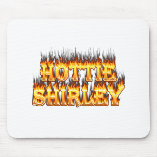 Hottie Shirley fire and flames. Mousepads