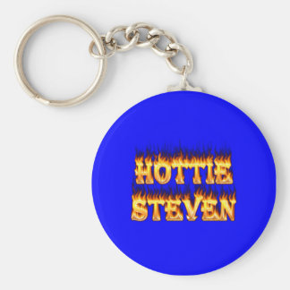 Hottie Steven fire and flames Keychain