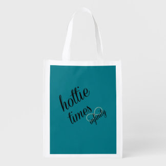 hottie times infinity reusable grocery bag