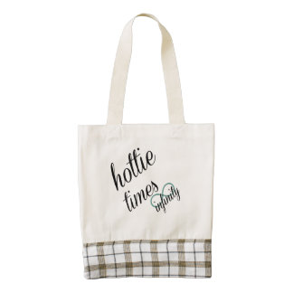 hottie times infinity zazzle HEART tote bag