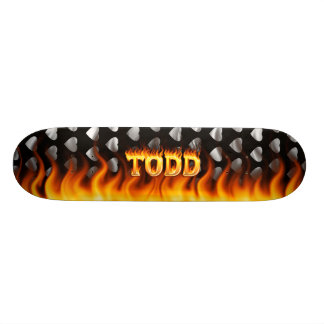 Hottie Todd fire and flames Skateboard Deck