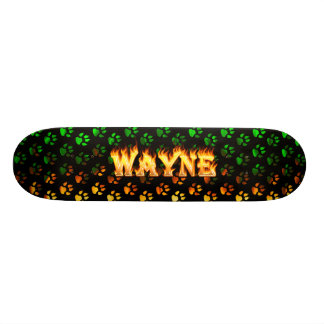 Hottie Wayne fire and flames. Skateboard Deck
