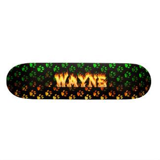 Hottie Wayne fire and flames. Skateboard Deck
