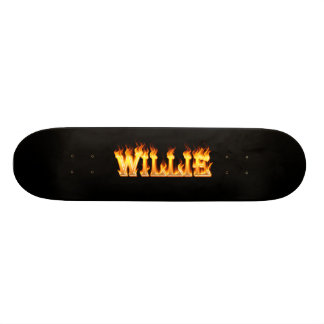 Hottie Willie fire and flames Skateboard Deck