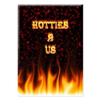 Hotties R nosotros rojo del fuego y de las llamas Tarjetas De Visita Grandes
