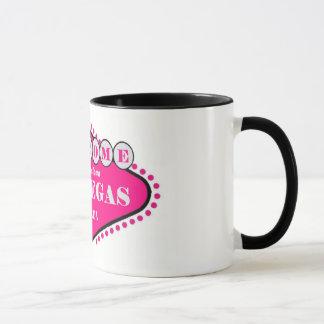 Hotty Pink Las Vegas Sign Logo Mug