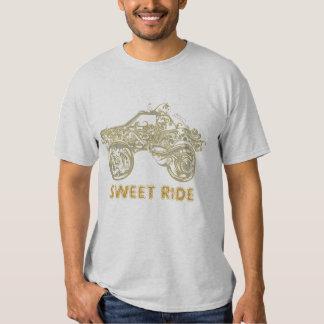 HotWheels Tattoo Art Design-Gold Tones Tee Shirt