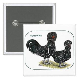 Houdan Chickens Button