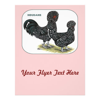 "Houdan Chickens 8.5"" X 11"" Flyer"