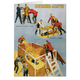 Houdini ~ Buried Alive Vintage  Escape Artist Cards
