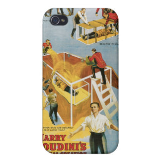 Houdini ~ Buried Alive Vintage Escape Artist Case For iPhone 4
