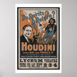 Houdini - Do Spirits Return? Poster