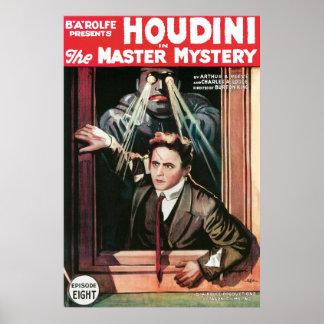 Houdini, el poster 1919 del vintage del misterio d