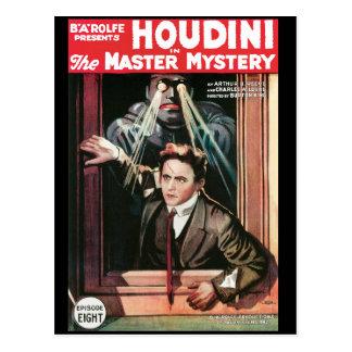 Houdini, el poster 1919 del vintage del misterio d postal