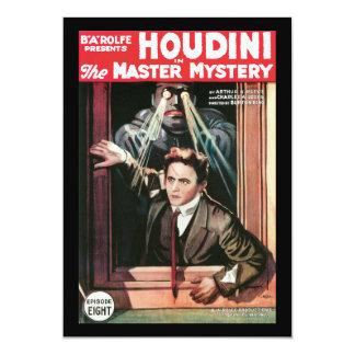 """Houdini, el poster 1919 del vintage del misterio invitación 5"""" x 7"""""""