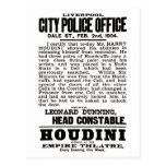 Houdini en la postal de Liverpool