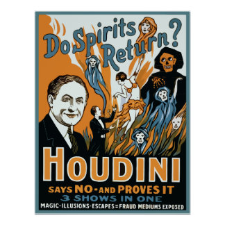 Houdini hace vuelta de las bebidas espirituosas poster