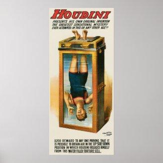 Houdini ~ Illusionist Vintage Escape Artist print