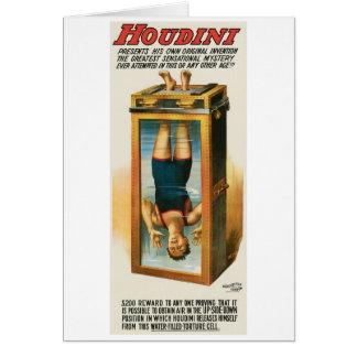 Houdini ~ Illusionist Vintage Magic / Escape Art Card