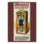 Houdini ~ Illusionist Vintage Magic / Escape Art Greeting Card