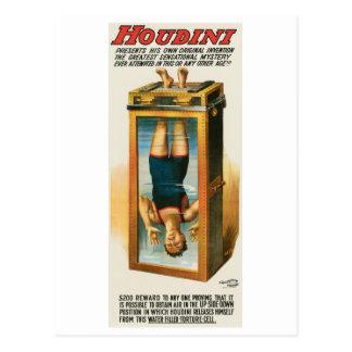 Houdini ~ Illusionist Vintage Magic / Escape Art Postcard