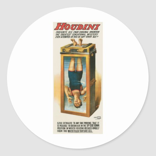 Houdini ~ Illusionist Vintage Magic / Escape Art Stickers