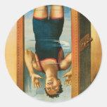 Houdini ~ Illusionist Vintage Magic / Escape Art Sticker