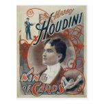 Houdini, King of Card Vintage Advertisement Postcard