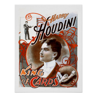 Houdini - King of Cards Print