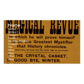 Houdini, 'Magical Revue' Retro Theater Double-Sided Standard Business Cards (Pack Of 100)