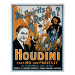 Houdini Magician Poster