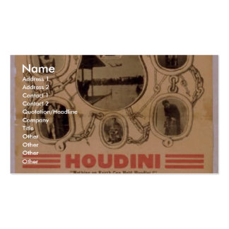 Houdini, 'Orpheuw' Retro Theater Double-Sided Standard Business Cards (Pack Of 100)