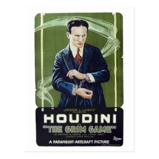 """Houdini - postal """"del juego severo"""""""