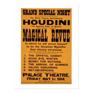 Houdini poster postcard