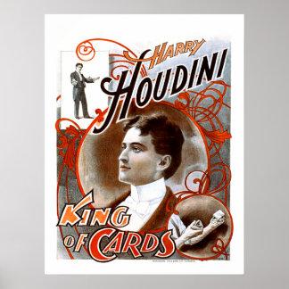 Houdini - rey de tarjetas póster