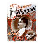 Houdini - rey de tarjetas tarjeta postal