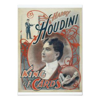Houdini, rey del anuncio del vintage de la tarjeta