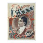 Houdini, rey del anuncio del vintage de la tarjeta invitación 12,7 x 17,8 cm