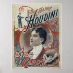 Houdini, rey del anuncio del vintage de la tarjeta impresiones